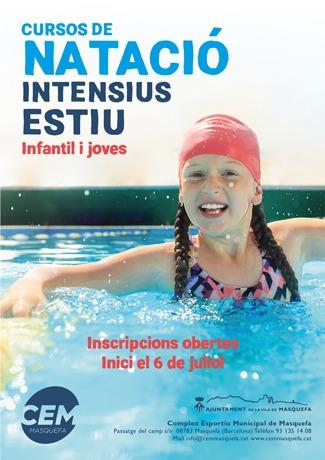 Cursos intensius de natació ESTIU 2020
